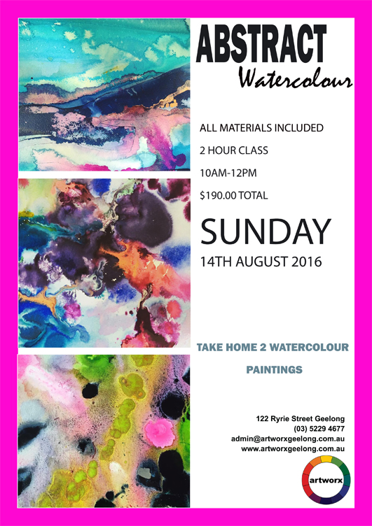 Abstract Watercolours 14th August Sunday