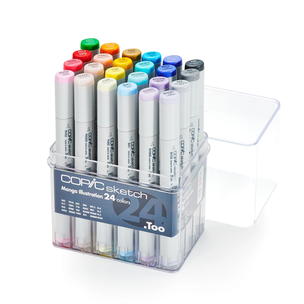 24pc Assorted Copic Sketch Marker Set Manga