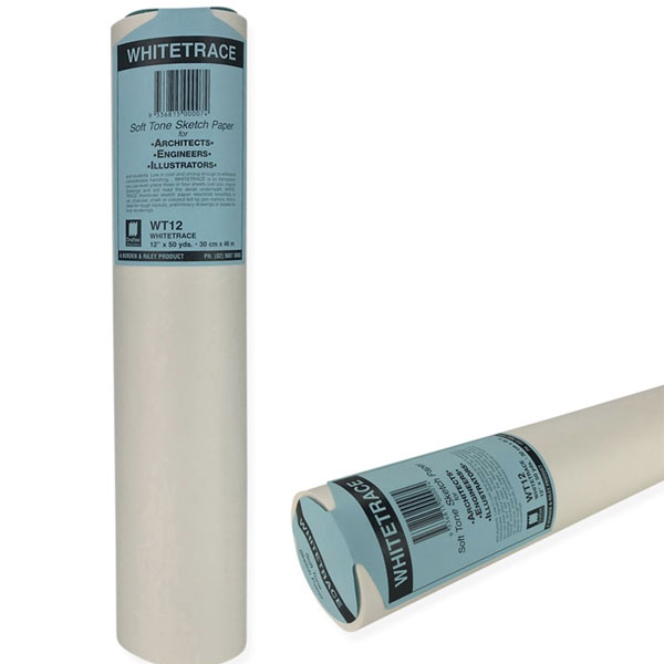 """12"""" x 50 yards Whitetrace White Engineers Tracing Paper"""