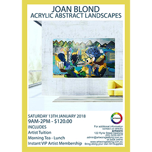Abstract Acrylic Landscapes with artist Joan Blond 13th January 2018