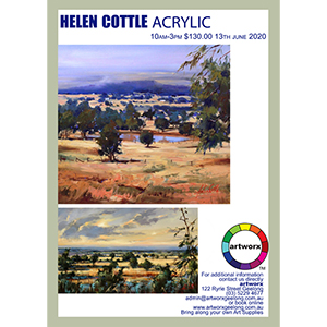 13th June 2020 Acrylic Landscapes with Helen Cottle