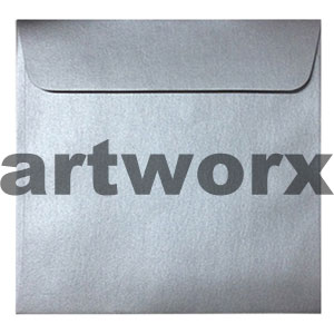 150x150mm Metallic Silver Envelope