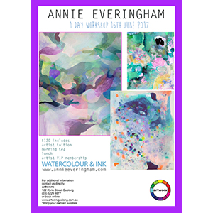 Abstract Watercolour Workshop Friday 16th June 2017