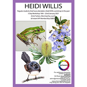 18th-22nd January 2021 5 Day Advanced Botanical Workshop with Heidi Willis