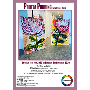 Saturday 18th July 2020 Protea Pouring Abstract Workshop - All Materials Included