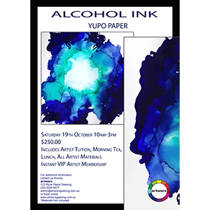 Friday 31st  January 2020 Abstract Alcohol Ink Workshop