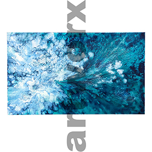 SOLD 1 x 1.5 Meter Resin Painting with Bubbles
