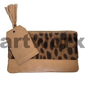 AMA Leather Pencil Case Half Hide Style Serval Tan