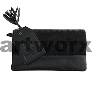 AMA Leather Pencil Case Half Hide Style Angus Black