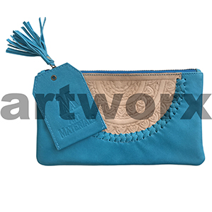 AMA Leather Pencil Case Dreamweaver Style Turquoise Howlite