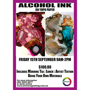 Friday 15th September Alcohol Ink on Yupo Paper