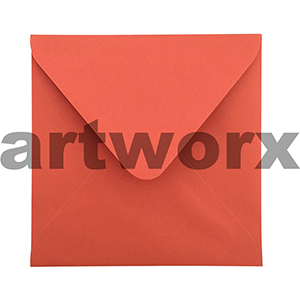 16x16cm 20pc Chilli Red Matte Envelopes 100% Recycled