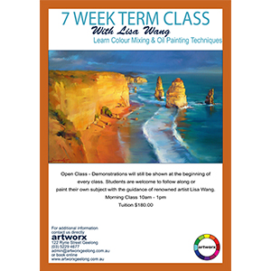 7 Week Oil Painting Morning Classes 10am - 1pm