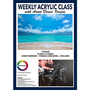 7 Week Term Acrylic Painting Classes