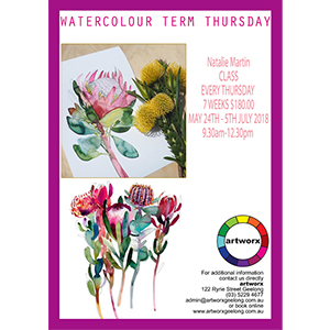7 Week Term Water Colour Painting Classes