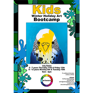 8-12yrs Kids Art Bootcamp July 2018
