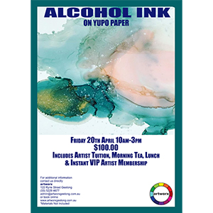 Alcohol Ink on Yupo Paper 20th April 2018