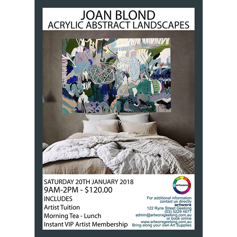 Abstract Acrylic Landscapes with artist Joan Blond 20th January 2018