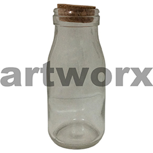 225ml Milk Bottle with Cork
