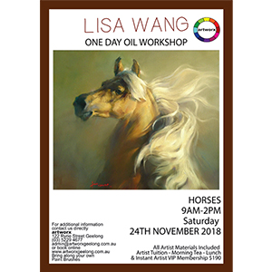 24th November 2018 Wild Horses - All Artist Materials Included
