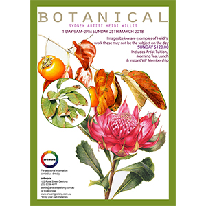 25th March Heidi Willis 1 Day Botanical Workshop