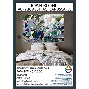 Abstract Acrylic Landscapes with artist Joan Blond 25th August 2018
