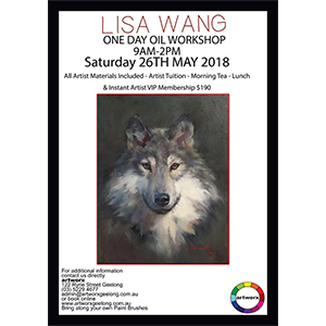 One Day Wild Wolf Oil Workshop Saturday 26th May 2018 - All Artist Materials Included