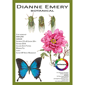 Botanical Workshop 27th & 28th October with artist Dianne Emery