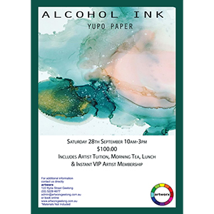 Saturday 28th September 2019 Abstract Alcohol Ink Workshop
