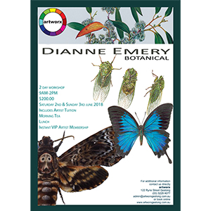 Botanical Insect Workshop 2nd & 3rd June with artist Dianne Emery