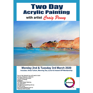 2nd & 3rd March 2020 Two Day Acrylic Seascape Workshop