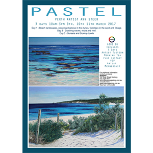Pastel Drawing Lessons: 3 Day Pastel Workshop 9th 10th & 11th March 2017 with Perth artist Ann Steer