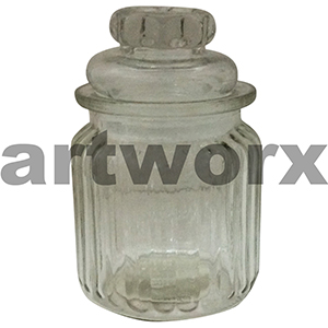 300ml Ribbed Glass Jar