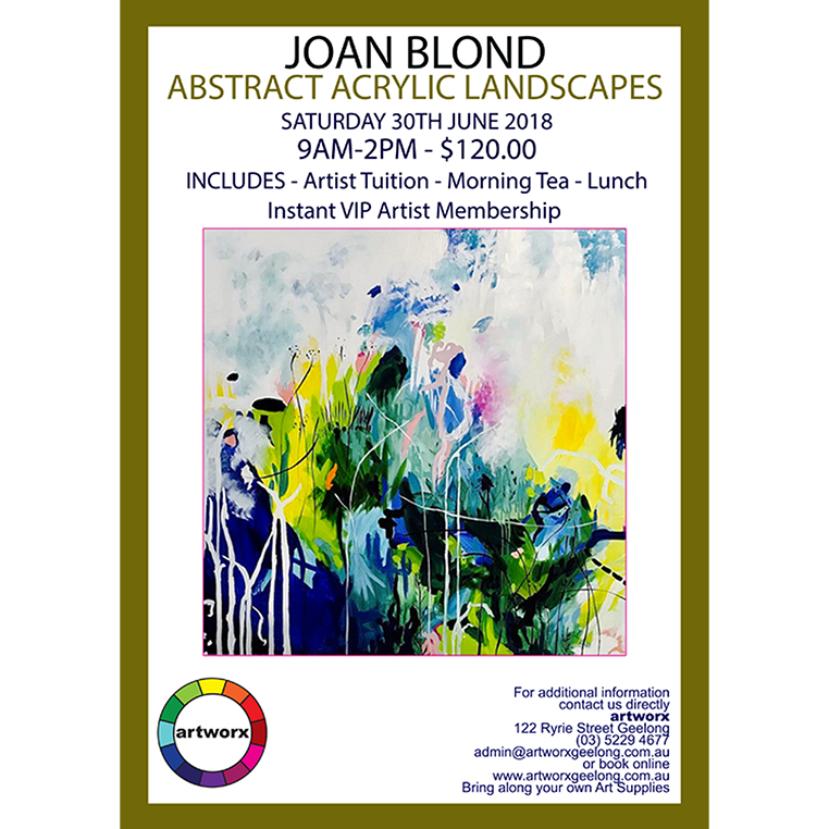 Abstract Acrylic Landscapes with artist Joan Blond 30th June 2018