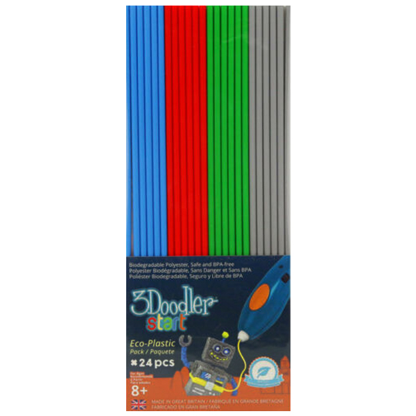 x6 Red Blue Green & Grey Primary Pow Mix 3Doodler