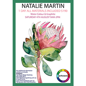 Watercolour 4th August with artist Natalie Martin - Artist Quality Materials Included