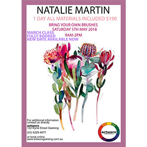 Watercolor Workshop 5th May with artist Natalie Martin - Artist Quality Materials Included
