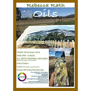 5th October Oil Painting Workshop with artist Rebecca Rath - All Materials Included
