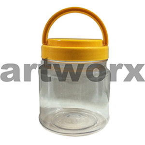 700ml Plastic Storage Jar with Lid