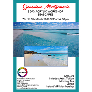 7th 8th 9th March 3 Day Acrylic Seascape Workshop