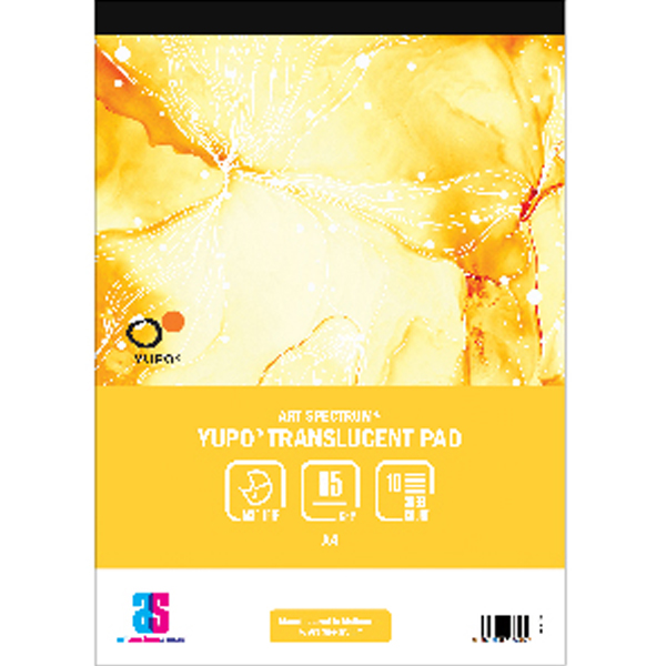 A4 85gsm Translucent Yupo 10 Sheet Art Spectrum Pad