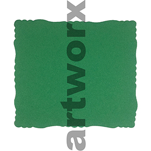 9.5 x 11cm Roman Edge Card Green