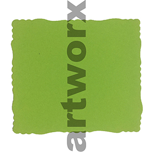 9.5 x 11cm Roman Edge Card Lime