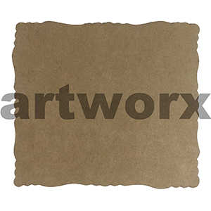9.5 x 11cm Roman Edge Card Recycled Brown