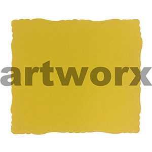 9.5 x 11cm Roman Edge Card Yellow