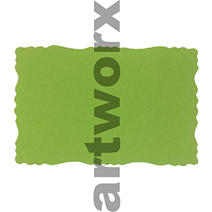 9.5 x 6.5cm Roman Edge Card Lime