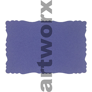 9.5 x 6.5cm Roman Edge Card Purple