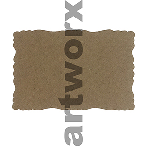 9.5 x 6.5cm Roman Edge Card Recycled Brown