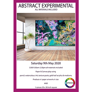 BOOKED OUT Saturday 9th  May 2020 Abstract Workshop - All Things Waterbased