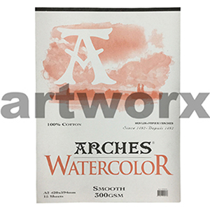 300gsm A2 12 Sheet Hot Press Arches Pad